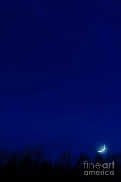 Sliver Photograph - Moon Sliver by Thomas R Fletcher
