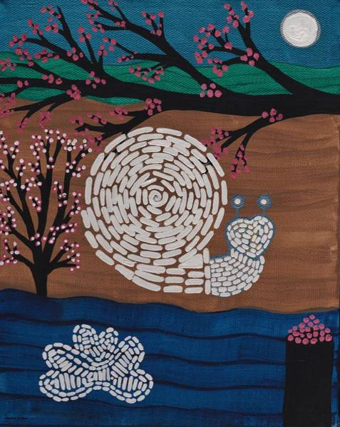 Painting - Moon Snail Bella Coola by Barbara St Jean