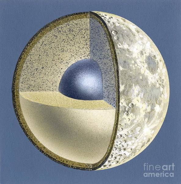 Wall Art - Photograph - Moon Structure, Artwork by David A. Hardy
