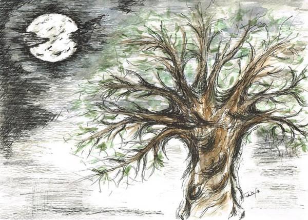 Arisen Painting - Moon Whisper  by Teresa White