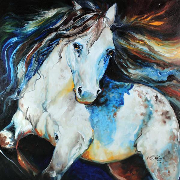 Painting - Moonlight Appaloosa by Marcia Baldwin