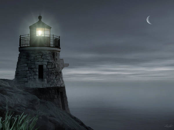 Newport Ri Wall Art - Photograph - Moonlight At Castle Hill by Lourry Legarde