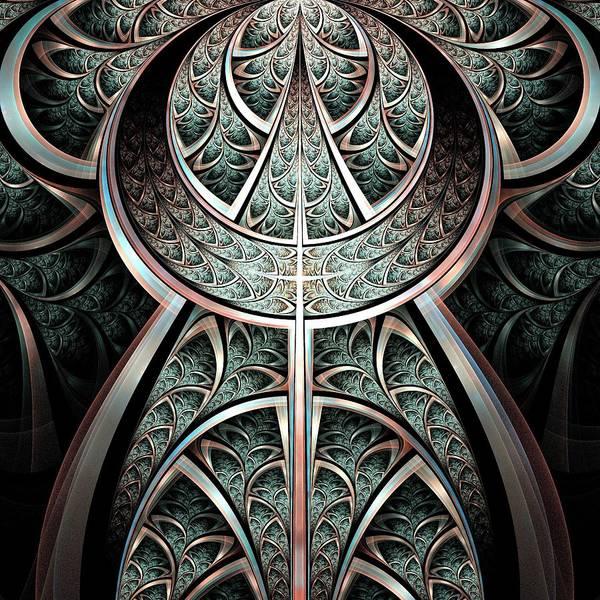 Digital Art - Moonlight Gates by Anastasiya Malakhova