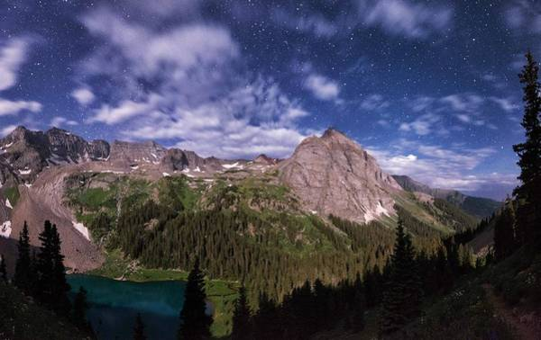 Telluride Photograph - Moonlight Hiking On The Blue Lakes Trail by Mike Berenson