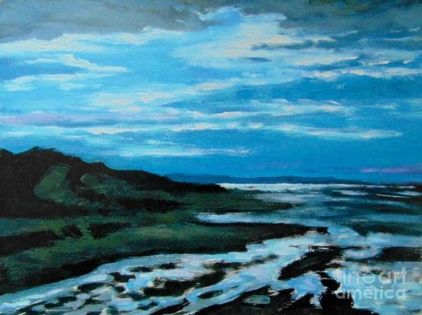 Prince Edward Island Painting - Moonlight Low Tide by John Malone