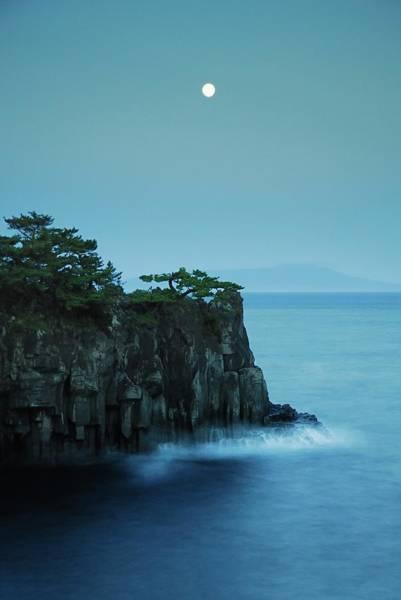 Japanese Culture Photograph - Moonlight On Jogasaki Coast by Lucia Terui