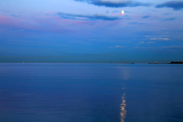 Photograph - Moonlight On Lake Michigan by Patrick Malon