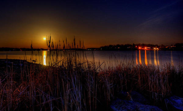 Photograph - Moonlight On The Lake by David Dufresne