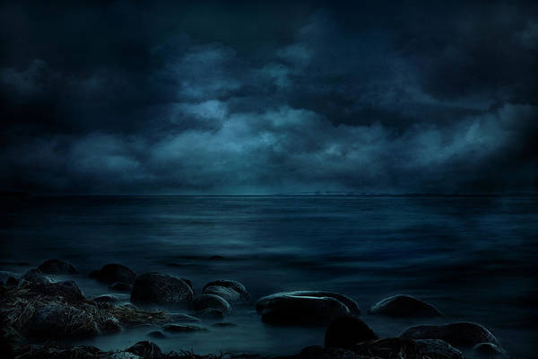 Moonlight Over Distant Shores Art Print