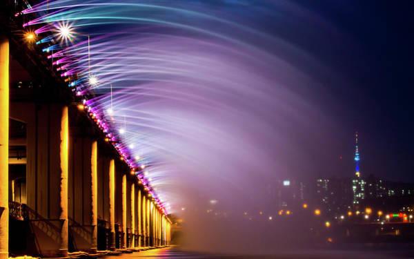 Photograph - Moonlight Rainbow by Photograph By Kangheewan.