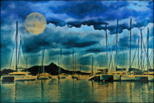 Wall Art - Photograph - Moonlight Saling by Kathy Jennings