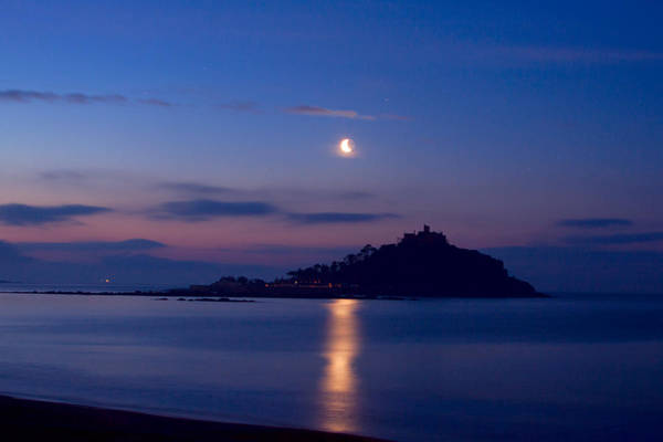 Photograph - Moonlight St Michael's Mount by Tony Mills