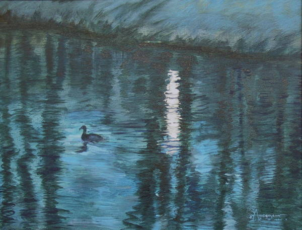Painting - Moonlight Swim by Sherri Anderson