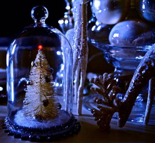 Moonlight Tree - Christmas Art Print
