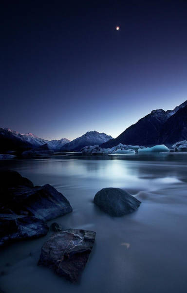 New Zealand Photograph - Moonlight by Yan Zhang