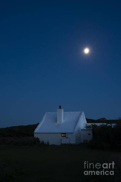 Photograph - Moonlit Farmhouse by Anne Gilbert