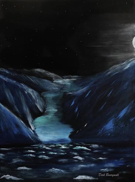 Moonlit Glacier Art Print