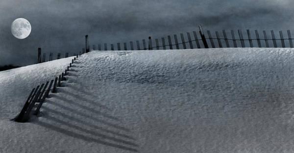 Moonlit Snow Art Print