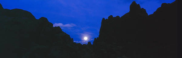 Inyo Mountains Photograph - Moonrise At Alabama Hills In Sierra by Panoramic Images