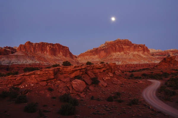 Photograph - Moonrise At Capitol Reef by Lee Kirchhevel