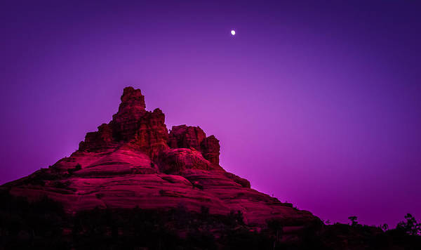 Bell Rock Photograph - Moonrise Bell  by Roger Chenery