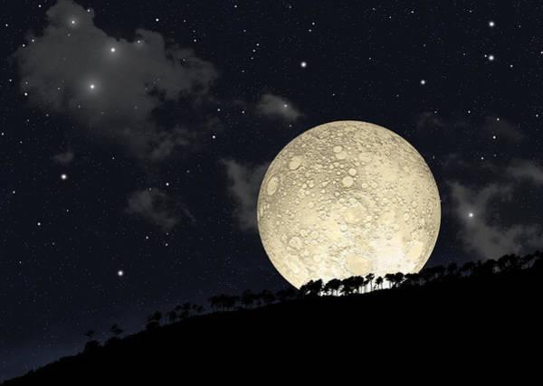 Photograph - Moonrise No.2 by Marc Ward