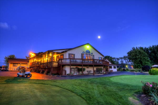 Photograph - Moonrise On Golfcourse In Salem Ohio by David Dufresne