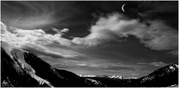 Photograph - Moonrise On The Rockies by Wayne King