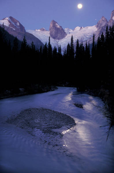 Bugaboo Photograph - Moonrise Over Bugaboo Glacier by Chris Pinchbeck
