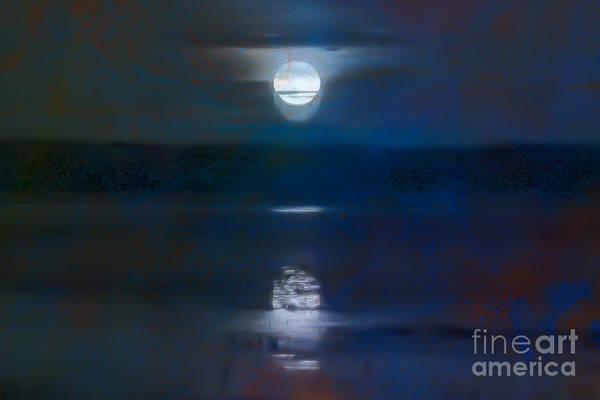 Photograph - Moonrise Over Lake Jackson 1 by Gerald Grow