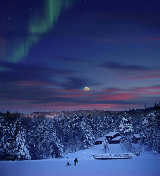Lillehammer Photograph - Moonrise Over Maihaugen by Per-Andre Hoffmann