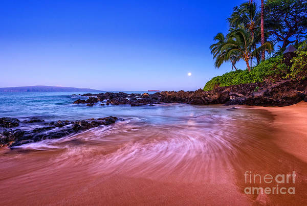 Wall Art - Photograph - Moonrise Over Maui by Jamie Pham
