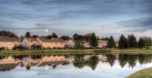 Photograph - Moonrise Over The Lake by David Dufresne