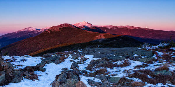 Photograph - Moonrise Over The Presidential Range by Jeff Sinon