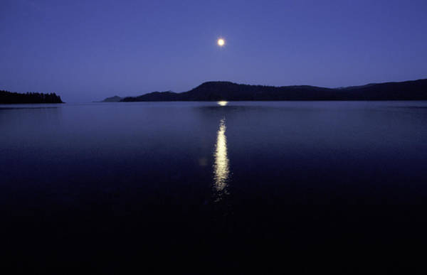Queen Charlotte Islands Wall Art - Photograph - Moonrise Over Water by Chris Pinchbeck