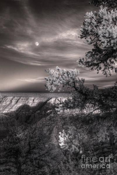 High Dynamic Range Digital Art - Moonrise South Rim by William Fields