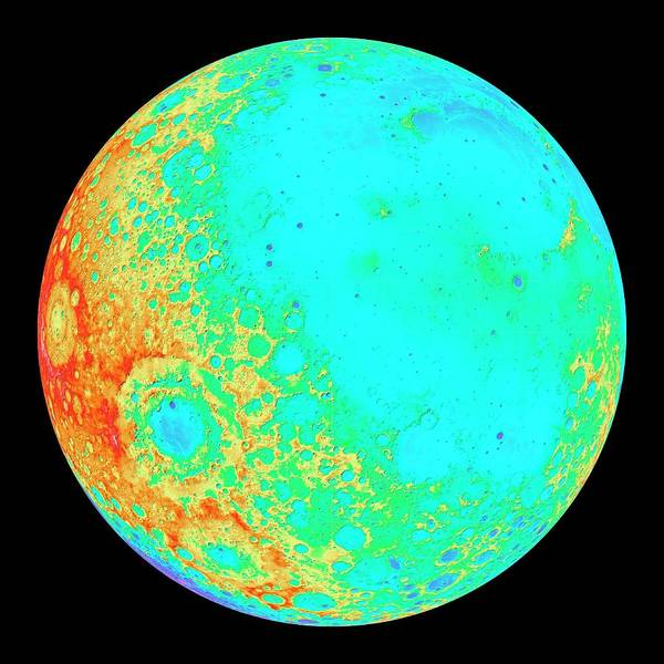 Wall Art - Photograph - Moon's 300-degree Hemisphere by Nasa/gsfc/dlr/asu/science Photo Library
