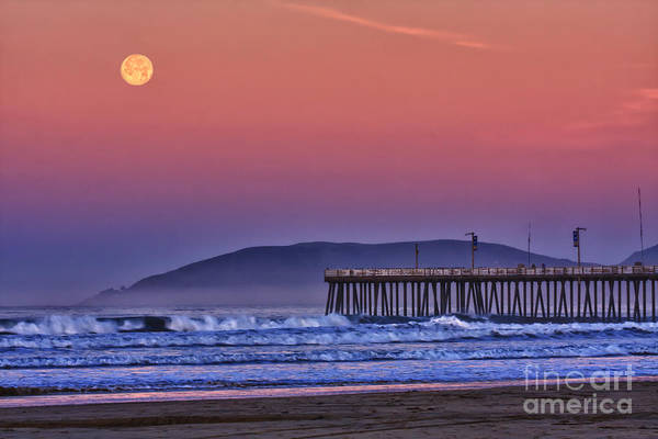 Photograph - Moonset by Beth Sargent