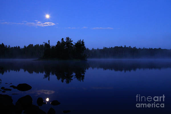 Bwcaw Photograph - Moonset Over Sawbill Lake by Radiant Spirit Gallery