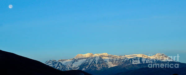 Photograph - Moonset Over Timpanogos by Jeff Loh