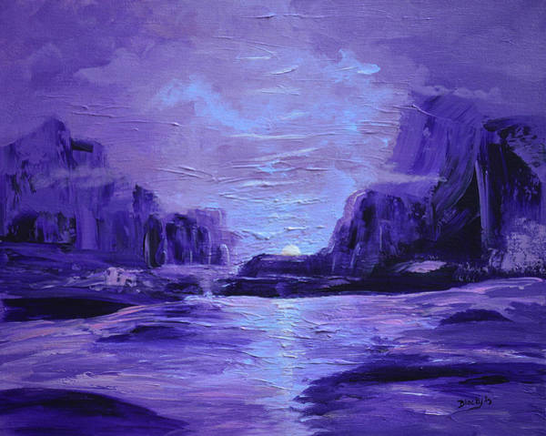 Wall Art - Painting - Moonshine by Donna Blackhall