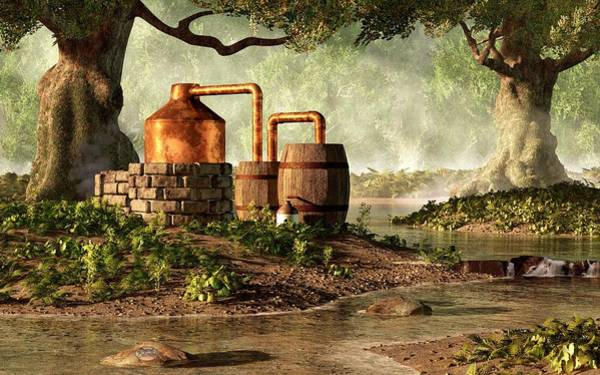 Digital Art - Moonshine Still 1 by Daniel Eskridge