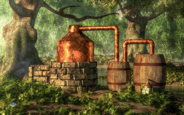 Digital Art - Moonshine Still 2 by Daniel Eskridge