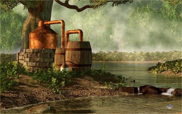 Digital Art - Moonshine Still 3 by Daniel Eskridge