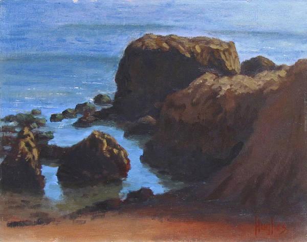 Moonstone Beach Art Print