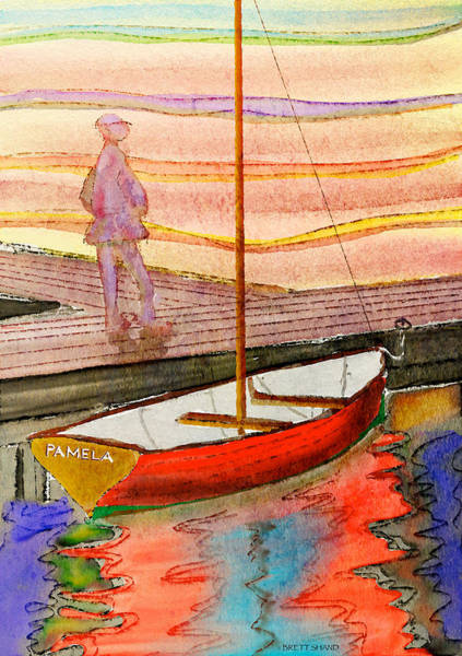 Moored Dinghy Art Print