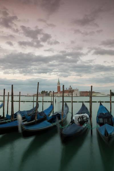 Wall Art - Photograph - Moored Gondolas And Isola Di San by Chris Mellor