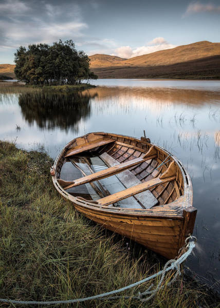 Wall Art - Photograph - Moored On Loch Awe by Dave Bowman