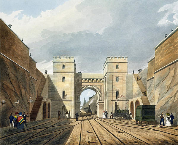 Trains Drawing - Moorish Arch, Looking From The Tunnel by Thomas Talbot Bury