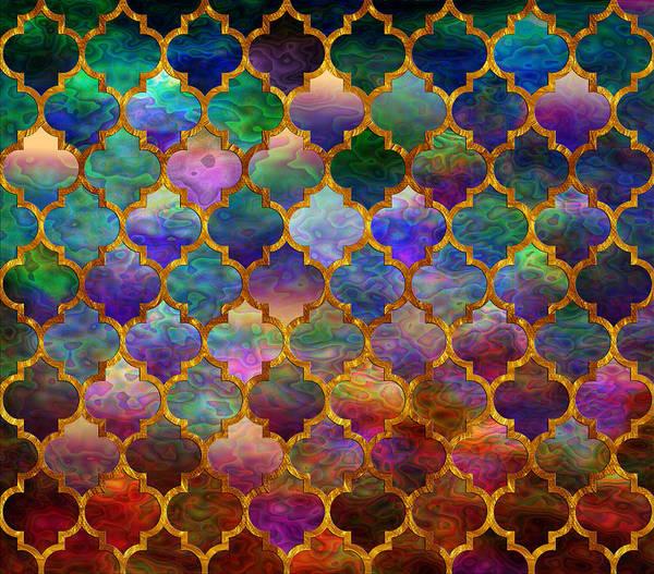 Moroccan Digital Art - Moorish Mosaic by Lilia D